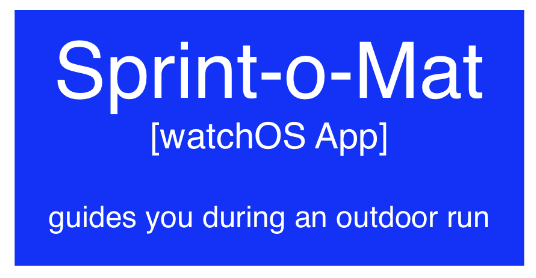 """A C4 container box that describes """"Sprint-o-Mat' as a watchOS App that guides you during an outdoor run"""